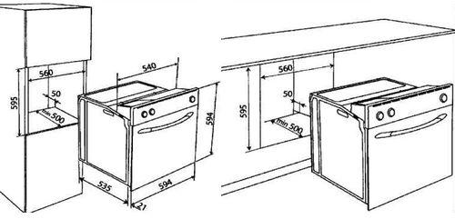 Установка духовки задняя стенка шкафа