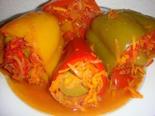 Блюдо из перца с овощами