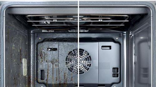Состояние духовки до и после очищения