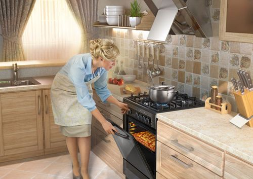 Приготовление пищи на кухонной плите