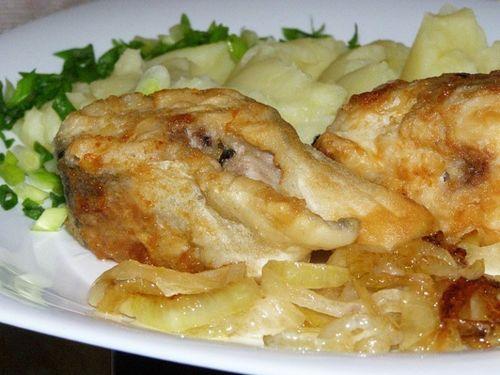 Запеченная рыба с пюре