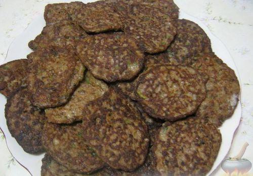 оладьи из печени курицы и риса